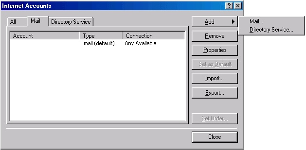 Outlook 2000 check settings - 2