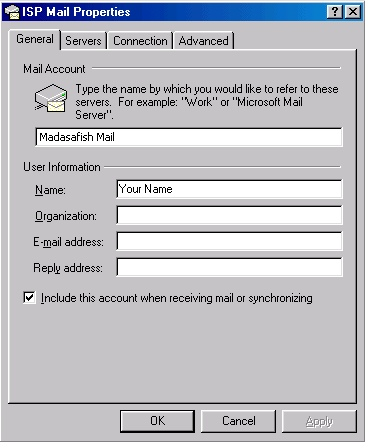 Outlook 2000 check settings - 3